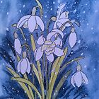 Snowdrops in the Snow by Val Spayne