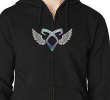 Shadowhunters angelic rune - light Zipped Hoodie