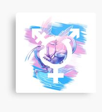 Trans Pride Dragon Metal Print