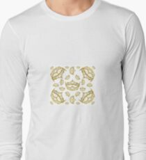 Queen of Hearts gold crown tiara tossed about by Kristie Hubler Long Sleeve T-Shirt