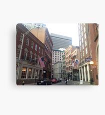 Streets of Downtown Providence  Canvas Print