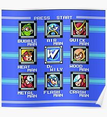 Mega Man 2 - Stage Select Poster