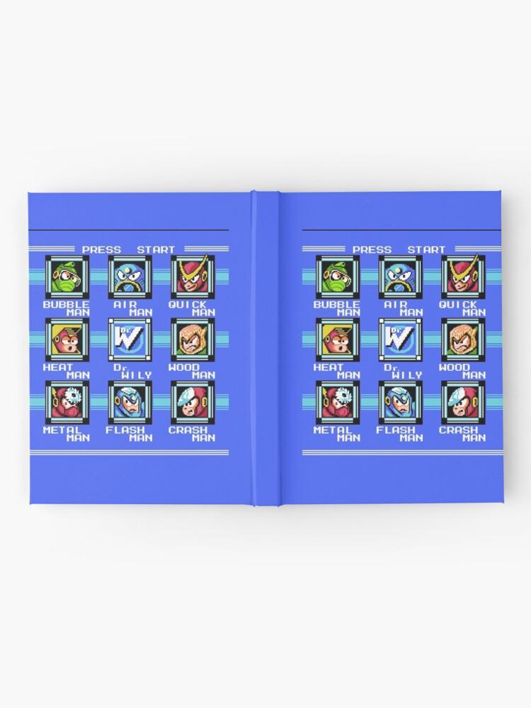 Vista alternativa de Cuaderno de tapa dura Mega Man 2 - Selección de escenario