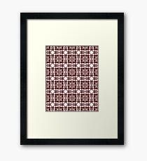 Jagged Patterning Framed Print