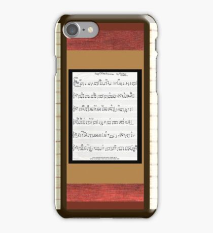 Piano keys with sheet music by Kristie Hubler iPhone Case/Skin