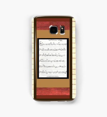 Piano keys with sheet music by Kristie Hubler Samsung Galaxy Case/Skin