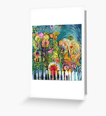 Angel in the Garden Greeting Card