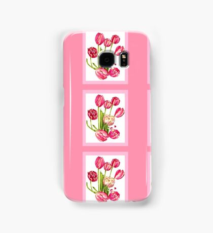 9 bunches of Pink Tulip Flowers by Kristie Hubler Samsung Galaxy Case/Skin