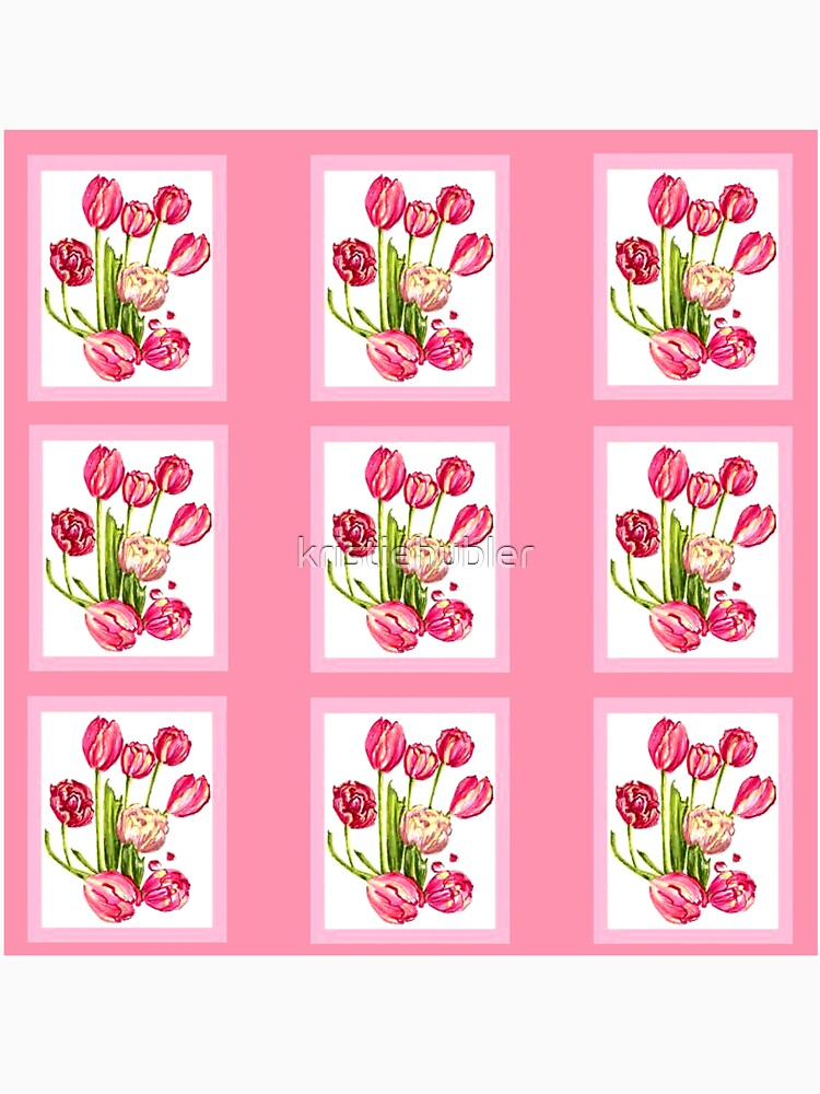 9 bunches of Pink Tulip Flowers by Kristie Hubler by kristiehubler