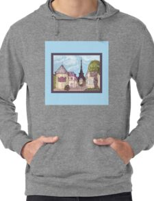 Paris Eiffel Tower inspired impressionist landscape by Kristie Hubler Lightweight Hoodie