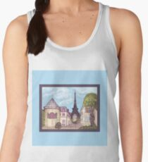Paris Eiffel Tower inspired impressionist landscape by Kristie Hubler Women's Tank Top