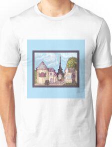 Paris Eiffel Tower inspired impressionist landscape by Kristie Hubler Unisex T-Shirt