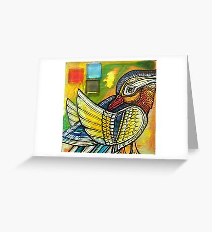 Preening Duck Greeting Card