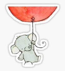 Elephant with balloon Sticker