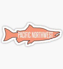 Pegatina PNW salmón pescado