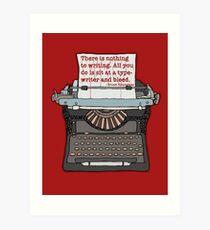Bleed Words Art Print