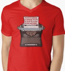 Bleed Words Men's V-Neck T-Shirt