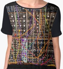 Moog Modular Synthesizer Control Panel Women's Chiffon Top