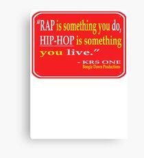 RAP vs. HIP-HOP Canvas Print