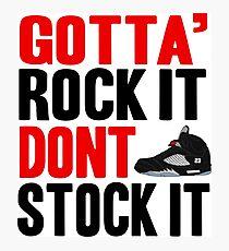 Gotta Rock It - Black Metallica 5 Photographic Print