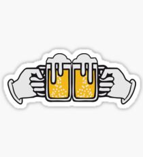 drinking beer booze handle hand abut Sticker