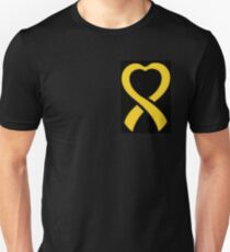 Cancer Ribbon Heart  T-Shirt
