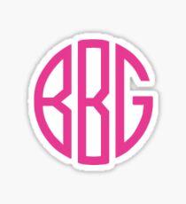 Pink BBG Monogram Sticker