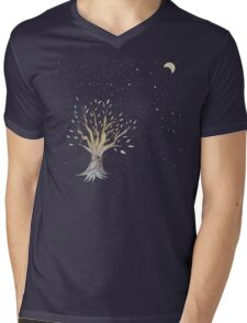 Moonlit Tree Mens V-Neck T-Shirt