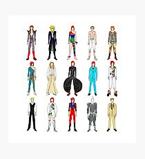 Outfits of Bowie Fashion Photographic Print