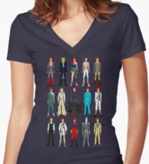 Outfits of Bowie Fashion Women's Fitted V-Neck T-Shirt