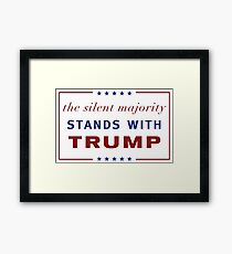 The Silent Majority Stands With Trump Framed Print