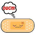 Cute Ouch Kawaii Bandage Cartoon Character by doonidesigns