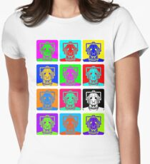 Doctor Who - Andy Warhol (Cybermen) Womens Fitted T-Shirt