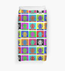 Doctor Who - Andy Warhol (Cybermen) Duvet Cover