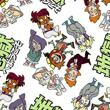 地獄へようこそ!- sticker design pattern by real-faker
