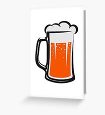 drinking beer booze handle Greeting Card