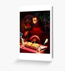 Book of Spells Greeting Card