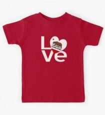 Red and White California LOVE Kids Tee