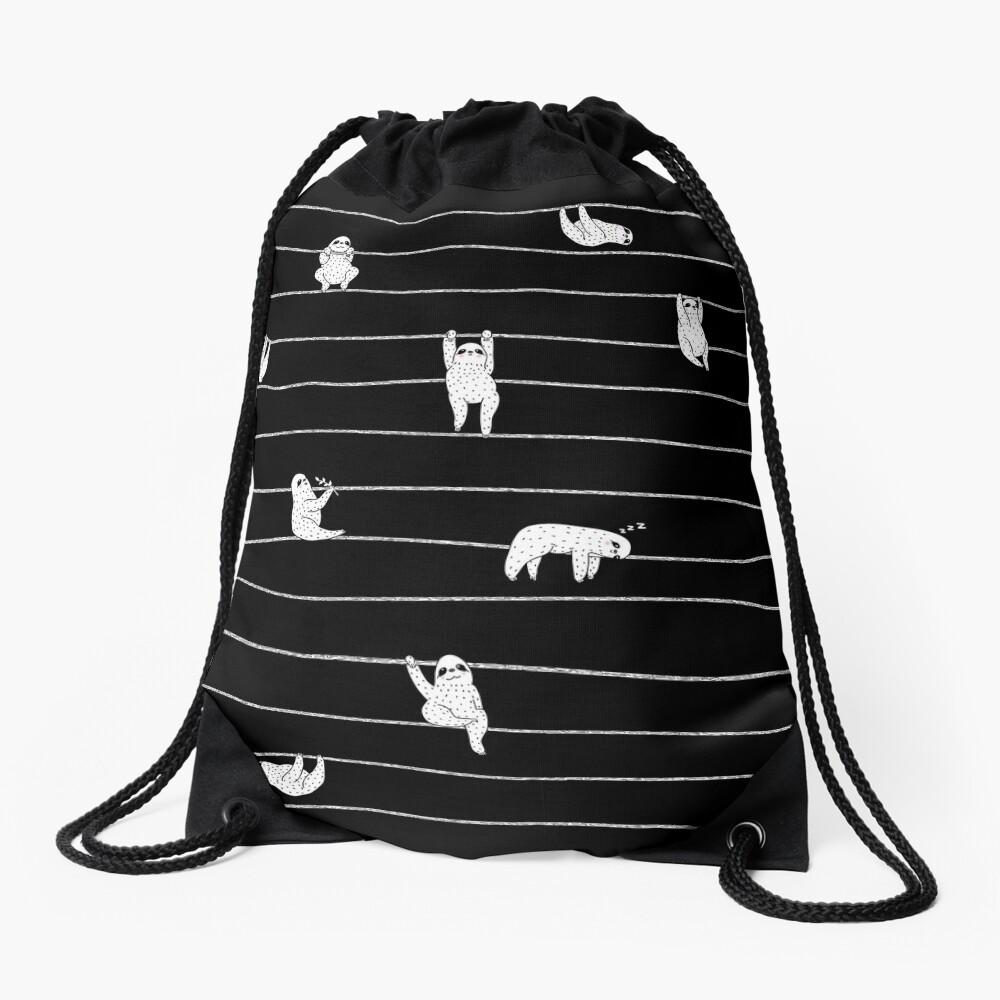 Sloth Stripe Drawstring Bag