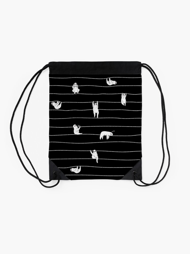 Alternate view of Sloth Stripe Drawstring Bag
