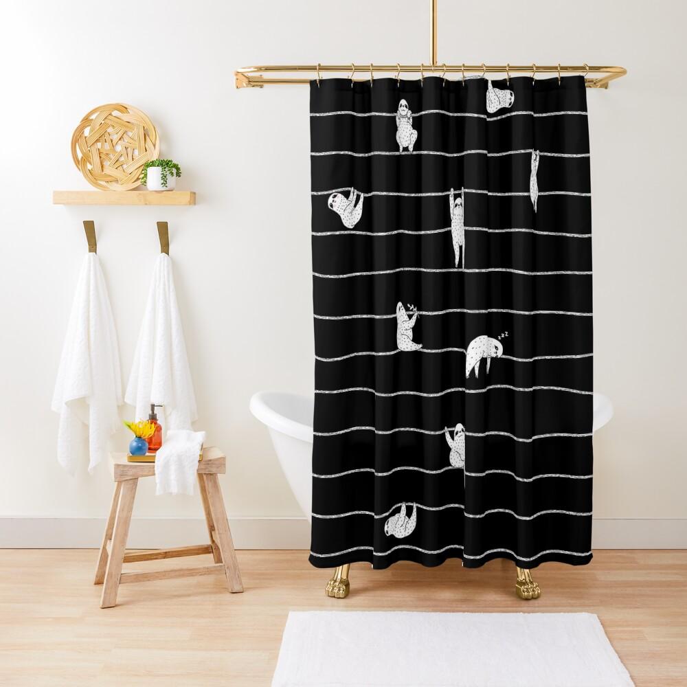 Sloth Stripe Shower Curtain