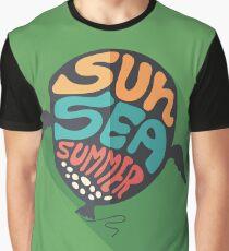 Balloon and Sun Sea Summer Graphic T-Shirt