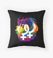 Lesbian Pride Dragon Throw Pillow