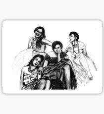 HBO Girls Drawing Sticker