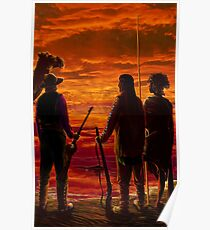 OUT OF VANDAEMONIA ~ Sunset over Kati-Thanda by tasmanianartist for Karl May Friends Poster