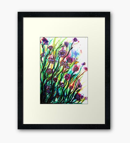 Amongst the Wildflowers Framed Print