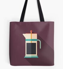 French Press Coffee Tote Bag