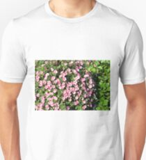 Beautiful spring bush with pink flowers. T-Shirt