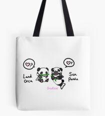 Sea Panda and Land Orca Tote Bag