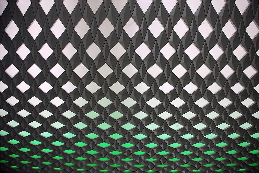 Wall of diamonds by Arie Koene